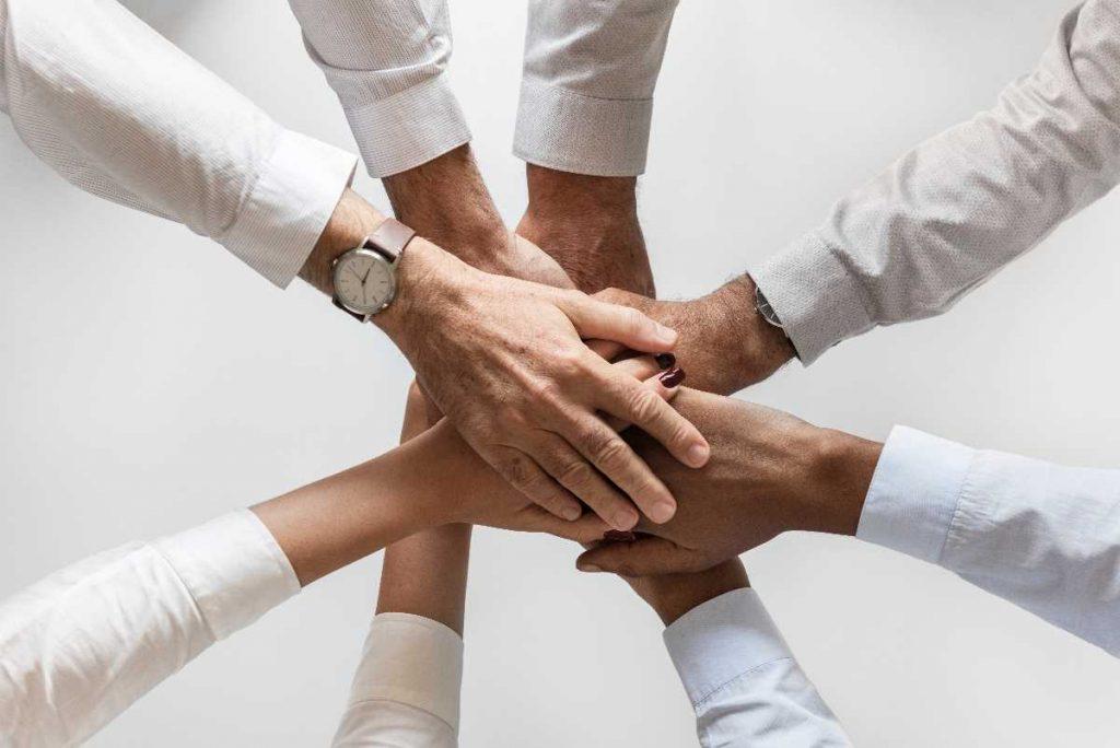 Africa Trade Team Hands