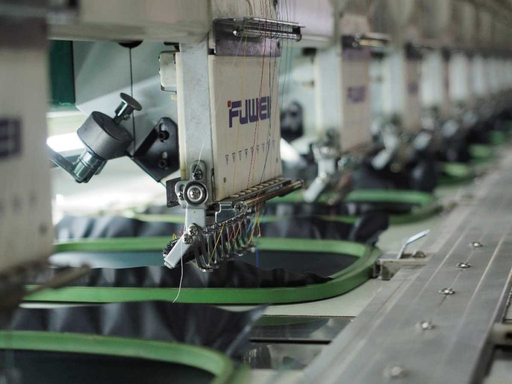 African Textile industry sewing machine