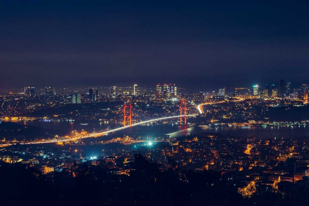 Photo of Istanbul at night