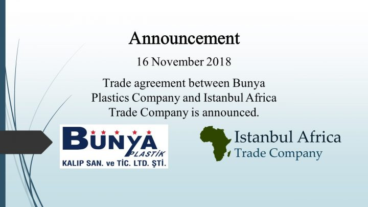 Trade Cooperation Agreement with Bunya Plastics Company