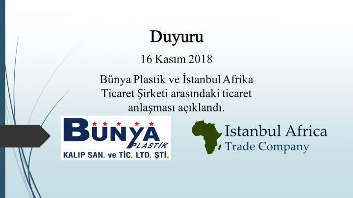 Bünya Plastik Şirketi ile Ticari İşbirliği Anlaşması