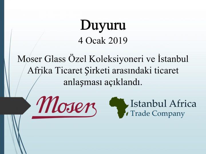 Moser Glass Koleksiyoneri ile Ticari İşbirliği Anlaşması