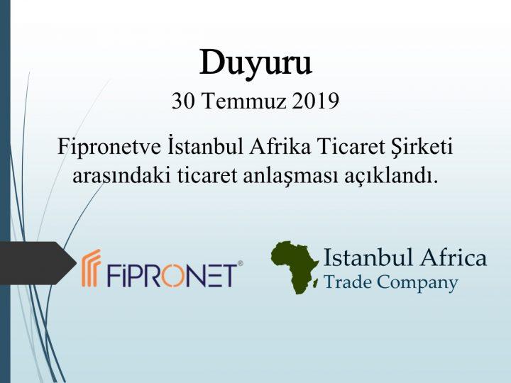 Fipronet ile Ticari İşbirliği Anlaşması