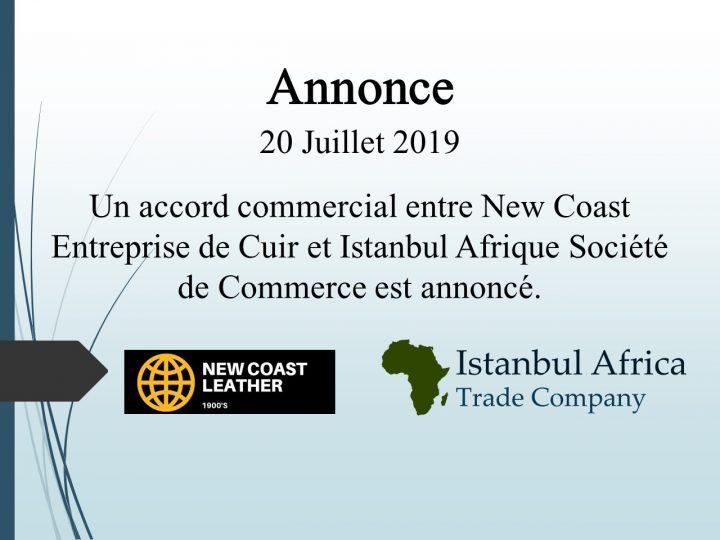Accord de Coopération Commerciale avec New Coast