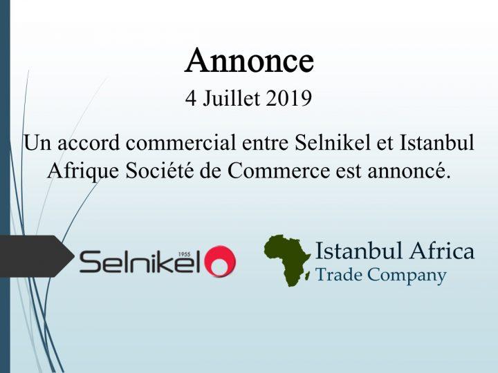 Accord de Coopération Commerciale avec Selnikel