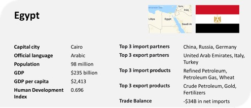 egypt profile trade