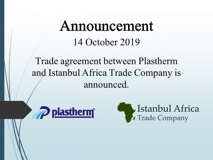 Trade Cooperation Agreement with Plastherm
