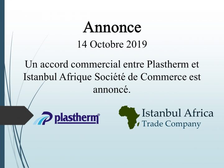 Accord de Coopération Commerciale avec Plastherm