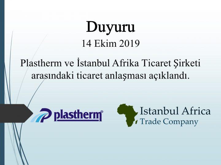 Plastherm ile Ticari İşbirliği Anlaşması