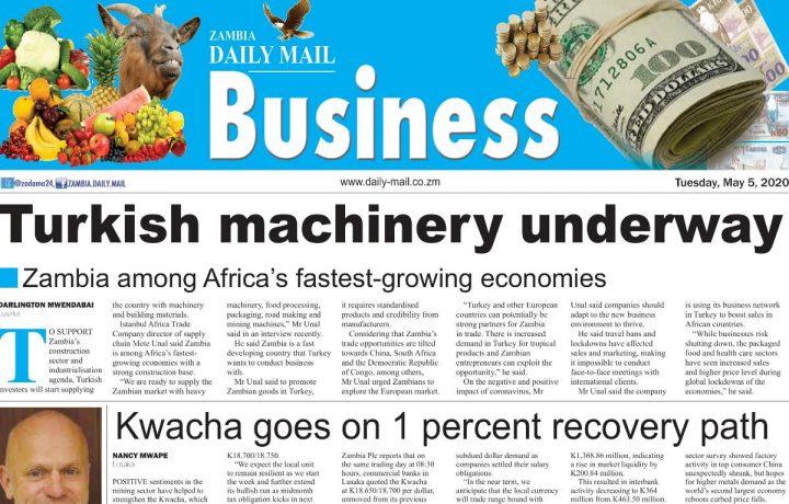 Zambia Daily Mail Gazetesinde Yayınlanan Haberimiz