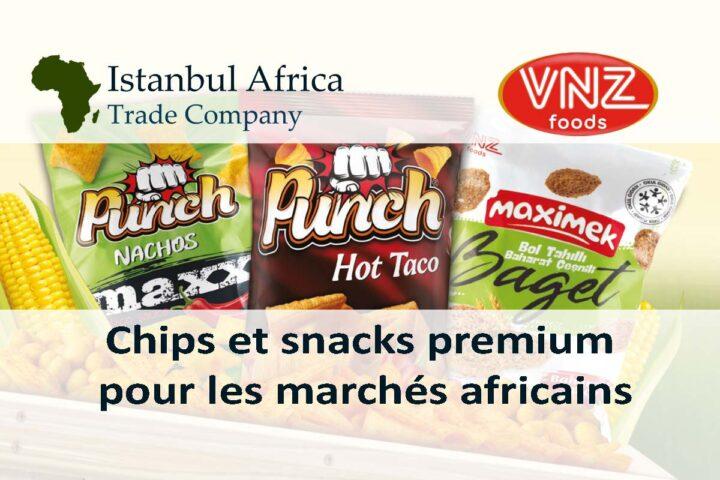 Chips et collations premium pour les marchés africains