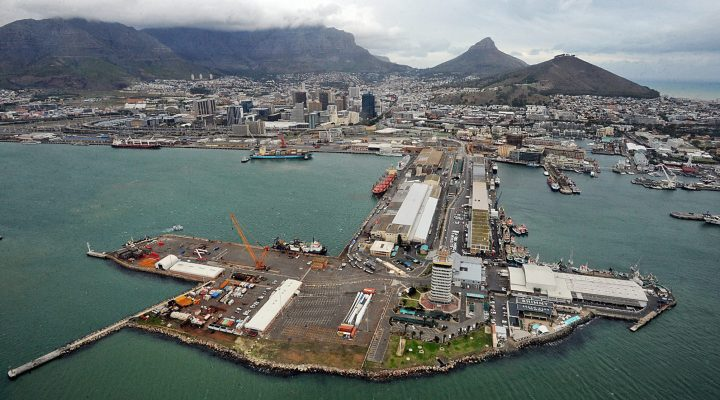 FILE IMAGE - Cape Town - 150601 - Aerial View of the Cape Town Harbour and National Ports Authority. Picture: David Ritchie